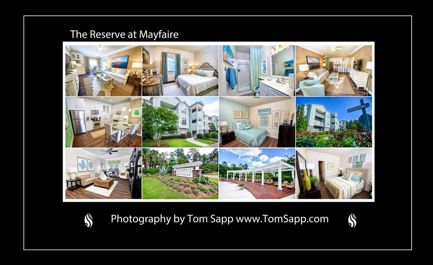 real estate photographers, interiors, architecture Photographers Wilmington NC, Advertising, promotional photos, Reserve at Mayfaire