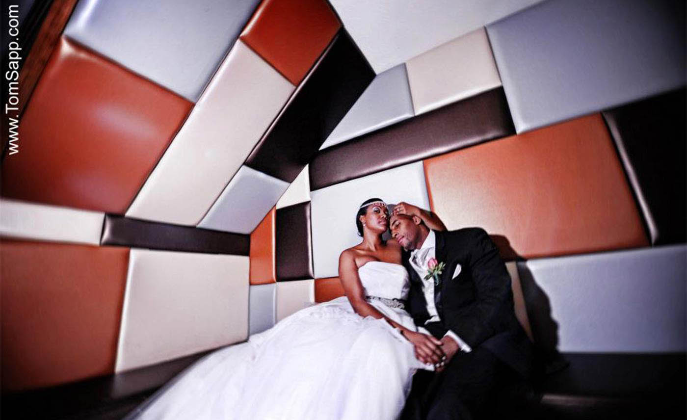 Destination wedding, New York City, african american, artistic  image